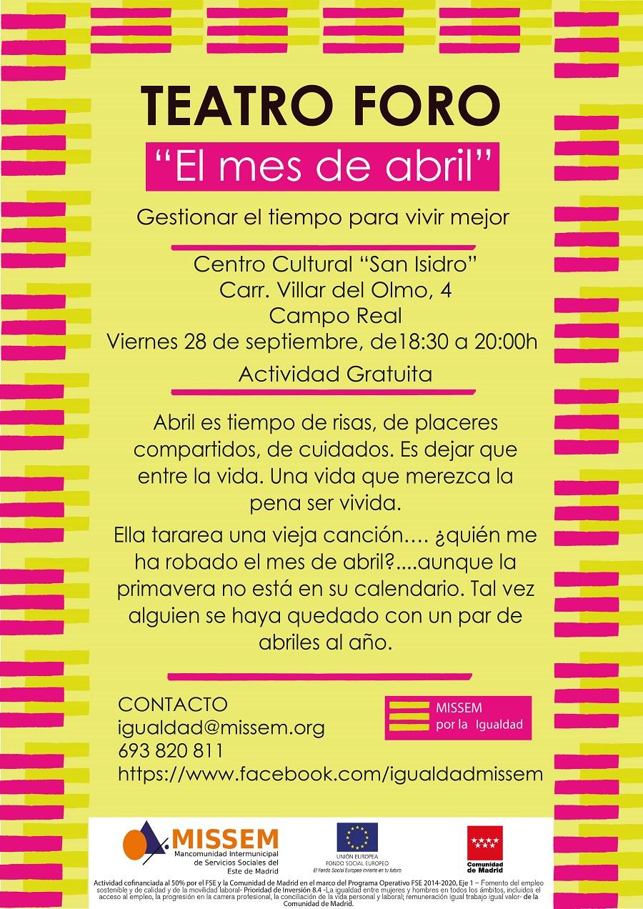 00875cb82a2c4 Teatro Foro  El Mes de Abril